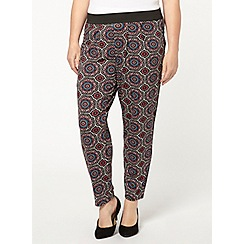 Evans - Pink tile print trousers