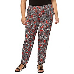 Evans - Paisley print tapered trousers