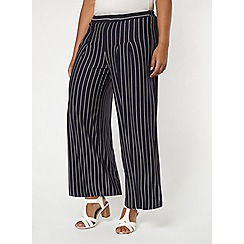 Evans - Navy striped wide leg trousers