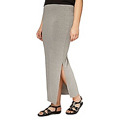 Evans - Grey side split maxi skirt