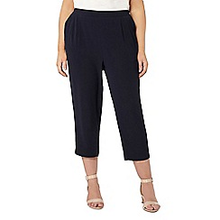 Evans - Navy blue cropped trousers