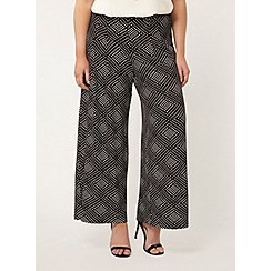 Evans - Black and white printed trouser