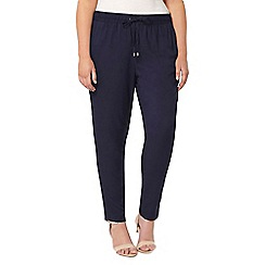 Evans - Navy blue tapered trousers