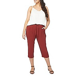 Evans - Red wide leg trousers