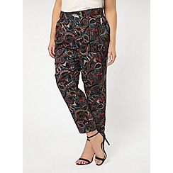 Evans - Multicoloured abstract printed tapered trousers