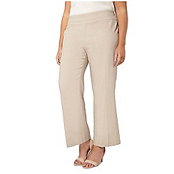 Evans - Neutral linen trousers