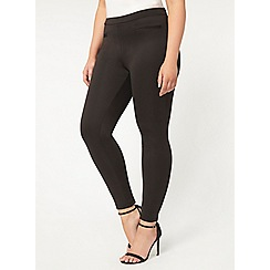 Evans - Black scuba slim leg trousers