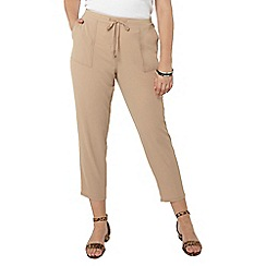 Evans - Neutral tie tapered trousers