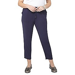 Evans - Navy tie tapered trousers