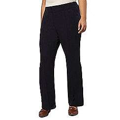 Evans - Pear fit navy bootcut trouser