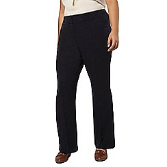 Evans - Navy short bootcut trousers