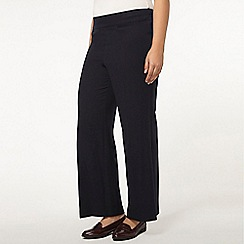 Evans - Short navy wide leg trousers