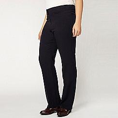 Evans - Short navy straight leg trousers