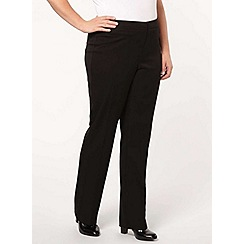 Evans - Black pear fit wide leg trousers