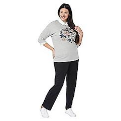 Evans - Black jersey slim leg trousers