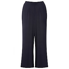 Evans - Navy wide leg trousers