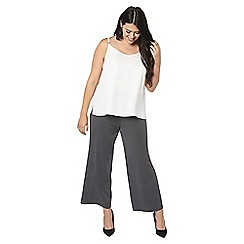 Evans - Grey workwear wide leg trousers