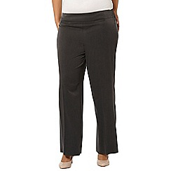 Evans - Charcoal wide leg trouser