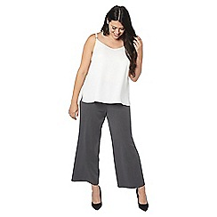 Evans - Grey pear fit workwear wide leg trousers