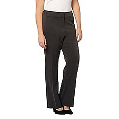 Evans - Charcoal straight leg trousers