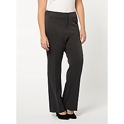 Evans - Dark grey pear fit straight leg trousers