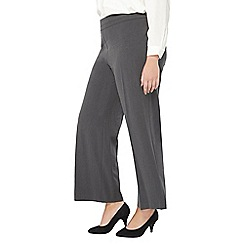 Evans - Grey wide leg trousers