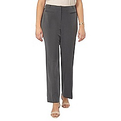 Evans - Grey pear fit straight leg trousers