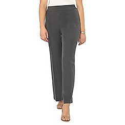 Evans - Grey pear fit wide leg trousers