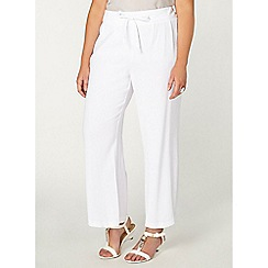 Evans - White tie front trousers