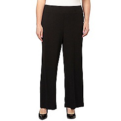 Evans - Black crinkle wide leg trousers