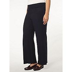 Evans - Navy wide leg trousers