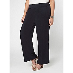 Evans - Navy blue pear fit wide leg trousers