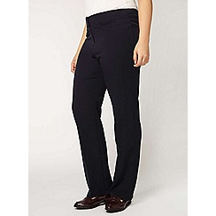 Evans - Navy straight leg tapered trousers