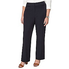 Evans - Navy blue pear fit straight leg trousers