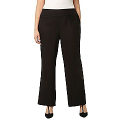 Evans - Black pear fit linen trousers