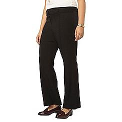 Evans - Black workwear bootcut trousers