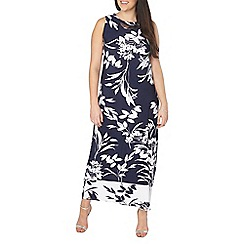 Evans - Navy trim maxi dress
