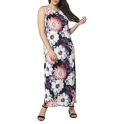 Evans - Purple floral maxi dress
