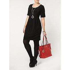 Evans - Black jersey dress