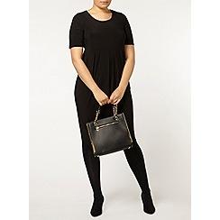 Evans - Black longline dress