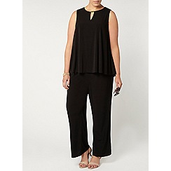 Evans - Black double layer jumpsuit