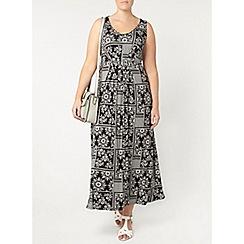 Evans - Black print maxi dress