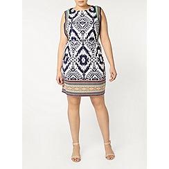 Evans - Ivory aztec print dress