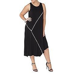 Evans - Black asymmetric hem dress