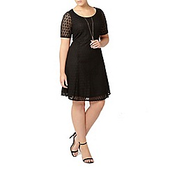 Evans - Black lace midi dress