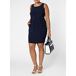 Evans - Navy sleeveless dress
