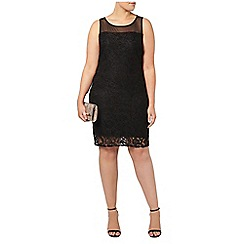 Evans - Black lace shift dress