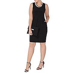 Evans - Black sleeveless pocket dress