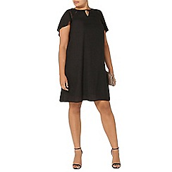 Evans - Black cape back dress
