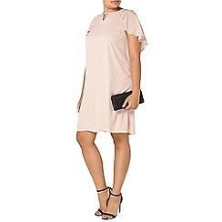 Evans - Blush pink cape back dress